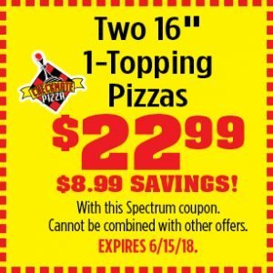 Checkmate Pizza Two 16 inch pizzas coupon