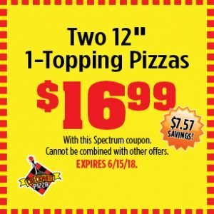 Checkmate Pizza two pizzas coupon