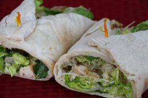 Checkmate Pizza Chicken Caesar Wrap