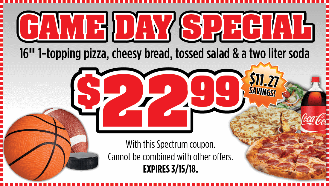 Checkmate Pizza Game Day Special Large