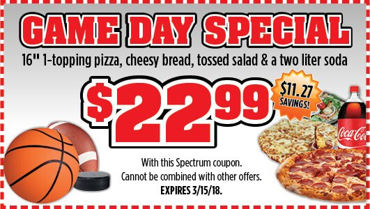 Checkmate Pizza Game Day Special