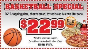 Checkmate Pizza Basketball Special