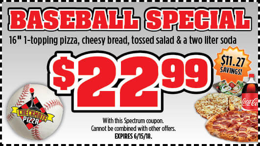 Checkmate Pizza Baseball Special Small