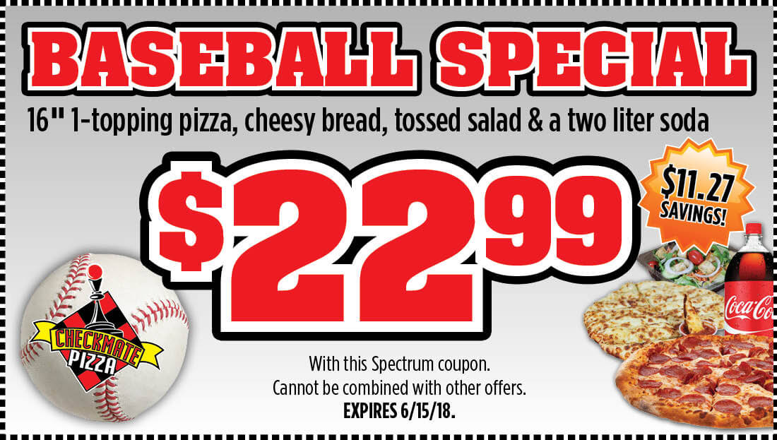 Checkmate Pizza Baseball Special Large