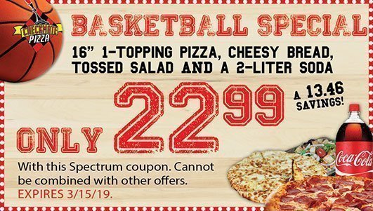 Checkmate Pizza Basketball Special 3/15/19