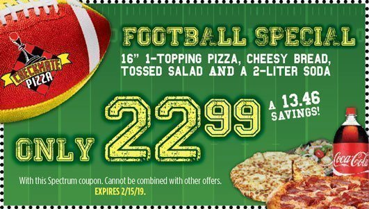 Checkmate Pizza Football Special 2/15/19
