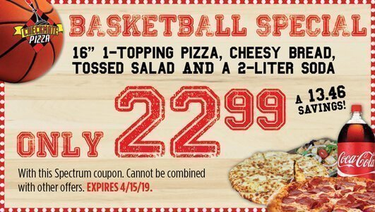 Checkmate Pizza Basketball Special 4/15/19