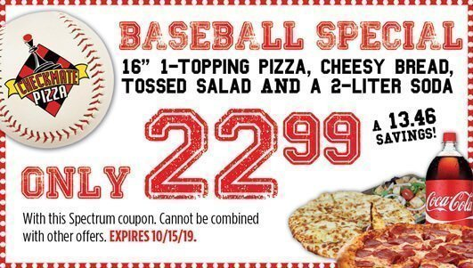 Checkmate Pizza Baseball Special 10/15/19
